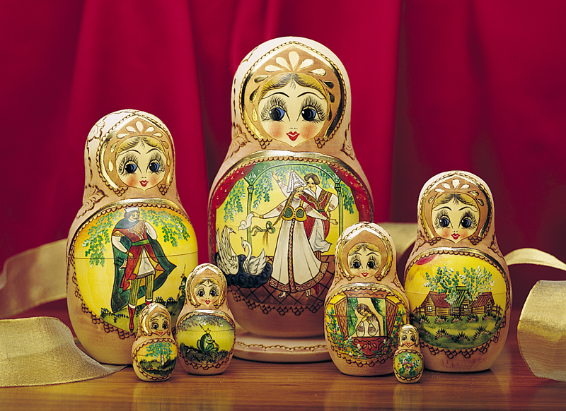 Russian matryoshka pike doll